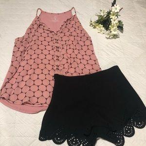 Iight pink dot blouse summer tank